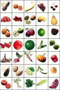 Карточки-пекс-фрукты-и-овощи