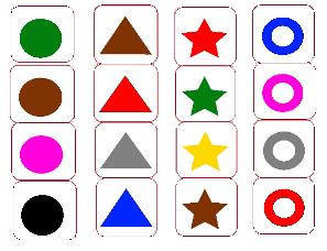Карточки фигуры цвет