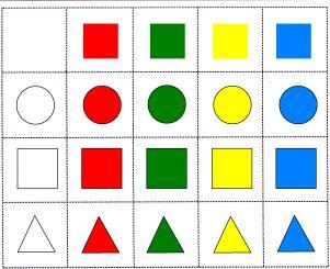 Сортировка По цвету и форме-2