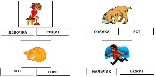 Картинки с действиями для малышей