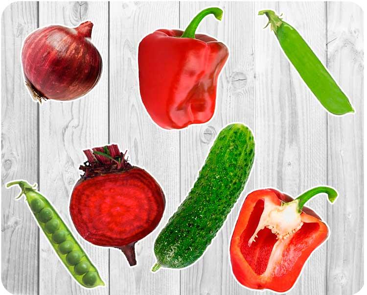 Овощи в разрезе - картинки для детей