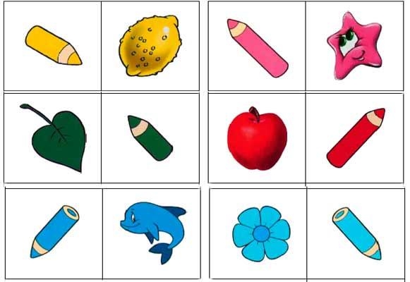Пазлы карандаши - изучаем цвета